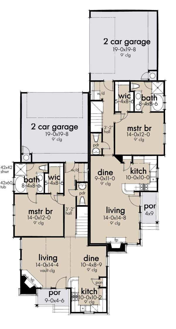 Home Plan - Cottage Floor Plan - Main Floor Plan #120-267