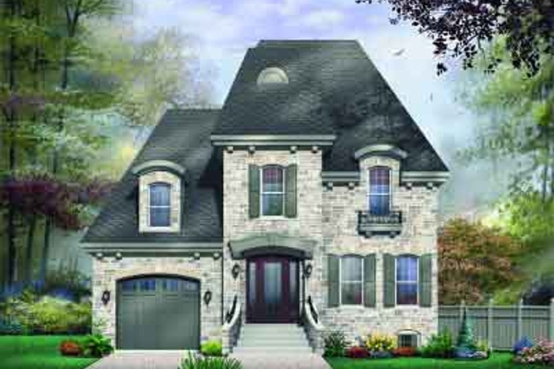 Dream House Plan - European Exterior - Front Elevation Plan #23-574