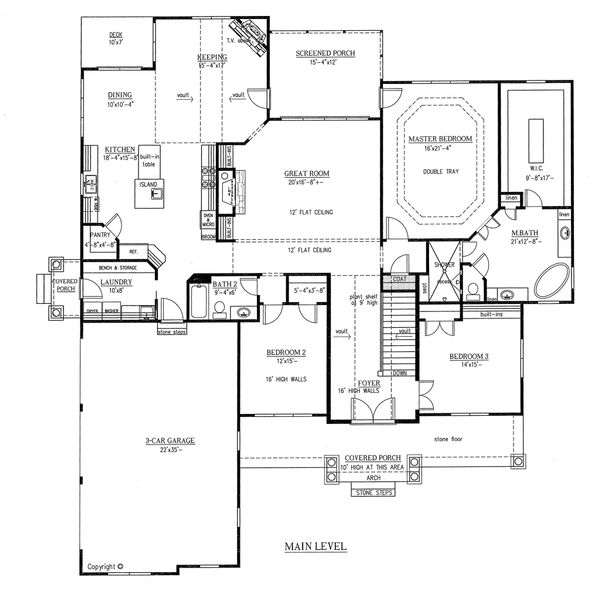 European Floor Plan - Main Floor Plan Plan #437-63