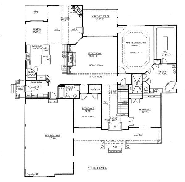 European Floor Plan - Main Floor Plan Plan #437-63