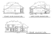Traditional Style House Plan - 4 Beds 2.5 Baths 2196 Sq/Ft Plan #20-2134 Exterior - Other Elevation