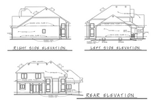 Dream House Plan - Traditional Exterior - Other Elevation Plan #20-2134