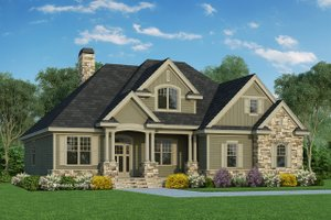Home Plan Design - Traditional Exterior - Front Elevation Plan #929-822