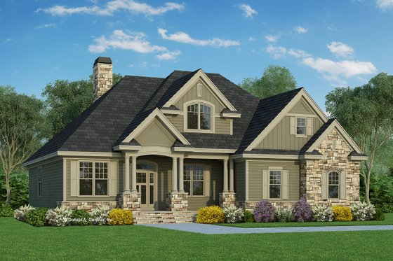 Traditional Exterior - Front Elevation Plan #929-822