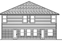 Home Plan - Traditional Exterior - Rear Elevation Plan #84-390