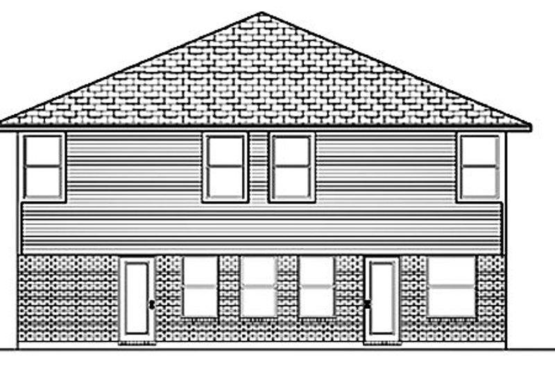 Traditional Exterior - Rear Elevation Plan #84-390 - Houseplans.com