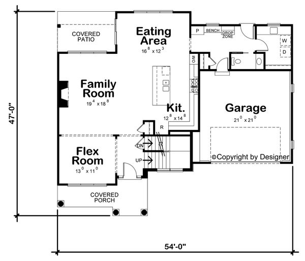Architectural House Design - Classical Floor Plan - Main Floor Plan #20-2434