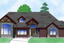 Dream House Plan - European Exterior - Front Elevation Plan #5-135