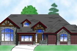 Home Plan - European Exterior - Front Elevation Plan #5-135