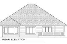 Craftsman Exterior - Rear Elevation Plan #70-998