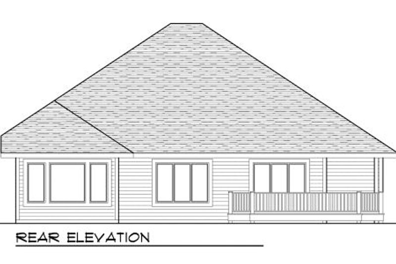 Craftsman Exterior - Rear Elevation Plan #70-998 - Houseplans.com