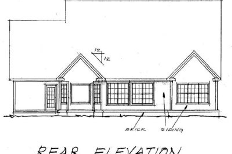 European Exterior - Rear Elevation Plan #20-365 - Houseplans.com