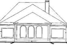 Home Plan Design - European Exterior - Rear Elevation Plan #20-863