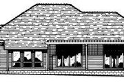 Traditional Style House Plan - 4 Beds 2.5 Baths 2994 Sq/Ft Plan #20-148 Exterior - Rear Elevation