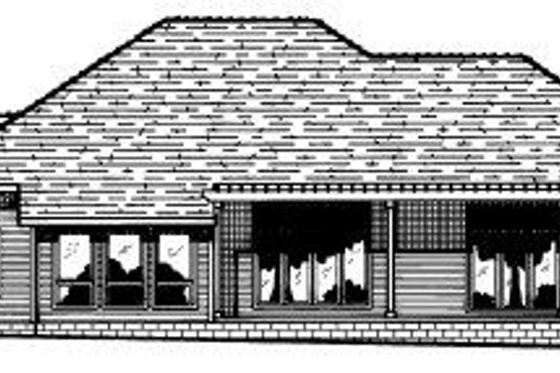 Traditional Exterior - Rear Elevation Plan #20-148 - Houseplans.com