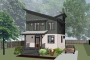 Modern Style House Plan - 3 Beds 2.5 Baths 1673 Sq/Ft Plan #79-294 Exterior - Front Elevation