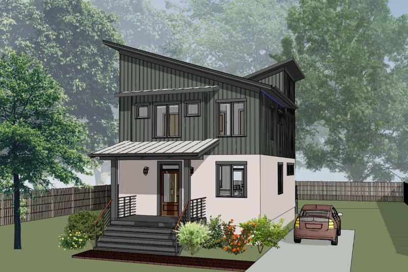House Plan Design - Modern Exterior - Front Elevation Plan #79-294