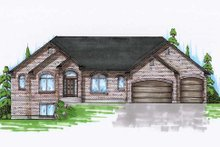 Home Plan - Traditional Exterior - Front Elevation Plan #5-267