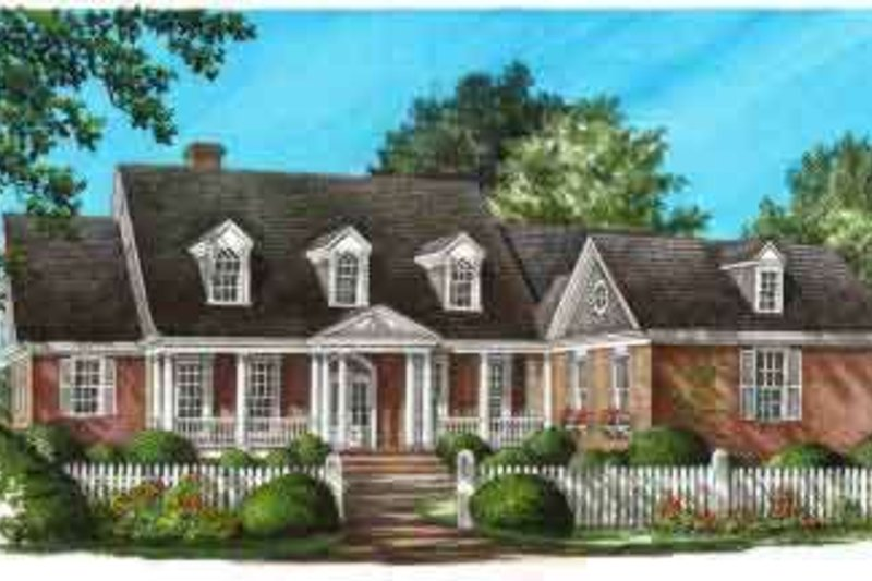 Colonial Exterior - Front Elevation Plan #137-228 - Houseplans.com