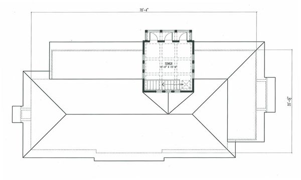 Beach Floor Plan - Upper Floor Plan #443-10