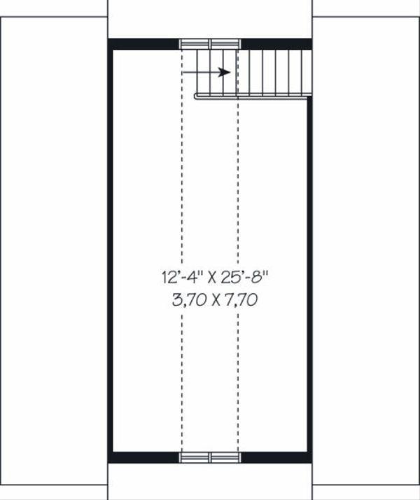Traditional Floor Plan - Upper Floor Plan Plan #23-767