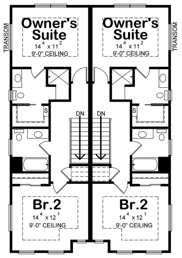 House Plan Design - Country Floor Plan - Upper Floor Plan #20-2383