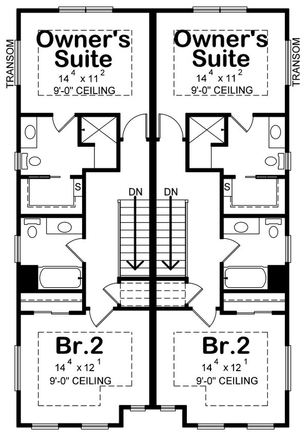 Home Plan - Country Floor Plan - Upper Floor Plan #20-2383