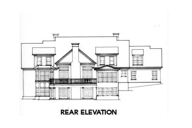 Country Exterior - Rear Elevation Plan #429-32 - Houseplans.com