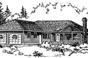 Ranch Style House Plan - 3 Beds 2 Baths 1719 Sq/Ft Plan #18-101 Exterior - Front Elevation