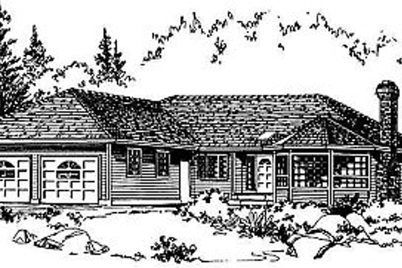 House Blueprint - Ranch Exterior - Front Elevation Plan #18-101
