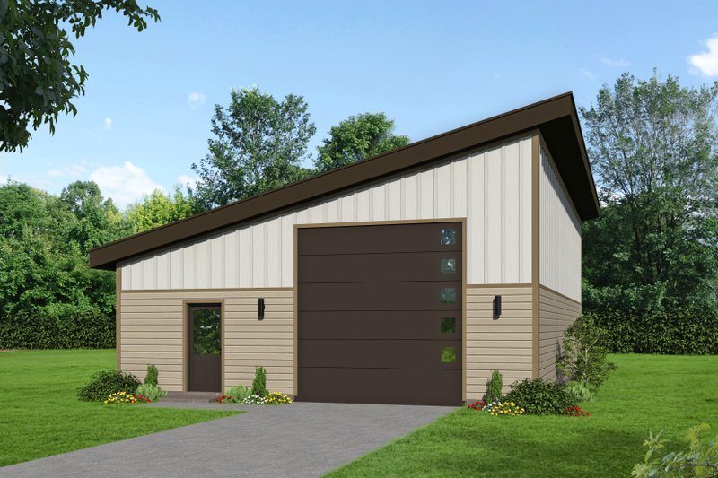 Dream House Plan - Contemporary Exterior - Front Elevation Plan #932-255