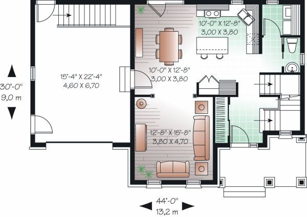 Traditional Floor Plan - Main Floor Plan Plan #23-846
