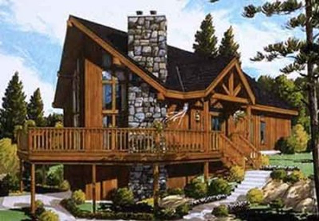 Contemporary Style House  Plan  4 Beds 2 Baths 1500  Sq  Ft