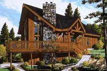 Home Plan - Contemporary Exterior - Front Elevation Plan #3-119