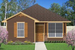 Cottage Exterior - Front Elevation Plan #84-510