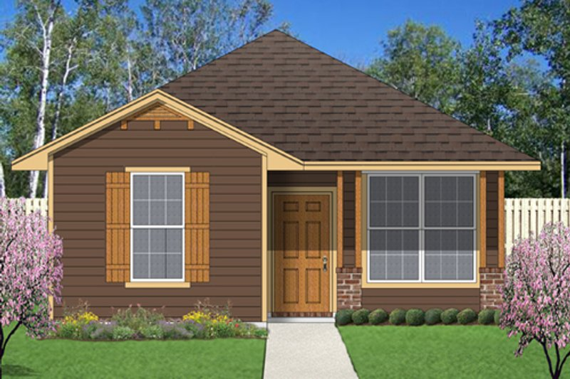 Cottage Style House Plan - 2 Beds 2 Baths 1044 Sq/Ft Plan #84-510 Exterior - Front Elevation