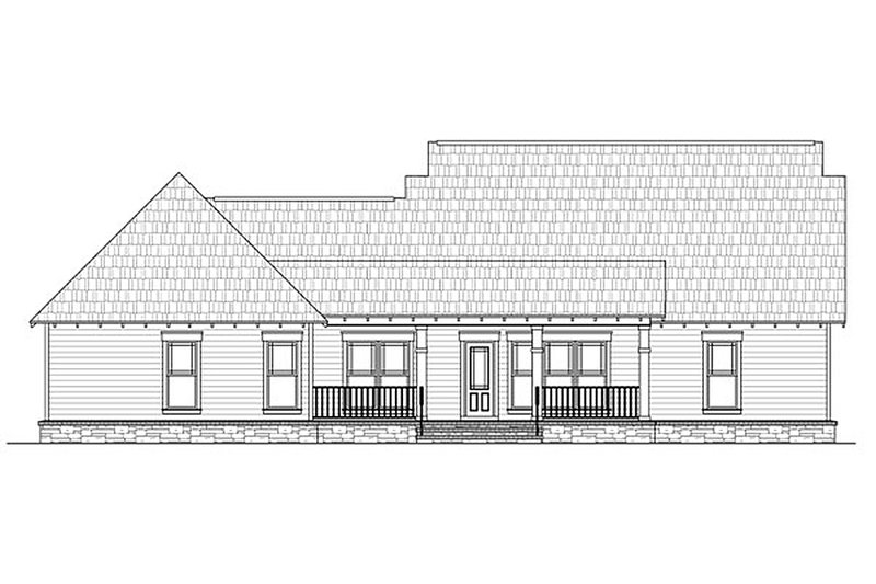 Craftsman Exterior - Rear Elevation Plan #21-292 - Houseplans.com