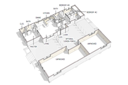 Modern Style House Plan - 3 Beds 2 Baths 976 Sq/Ft Plan #460-9 Floor Plan - Main Floor Plan