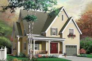 Architectural House Design - Country Exterior - Front Elevation Plan #23-2322