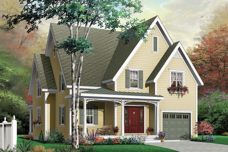 Country Exterior - Front Elevation Plan #23-2322