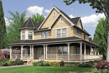 Architectural House Design - Front View - 2400 square foot Country Home