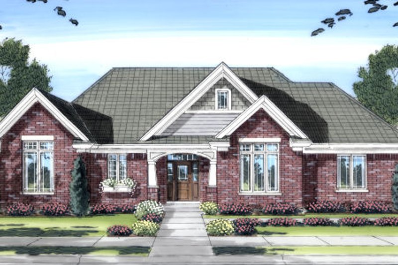 Bungalow Exterior - Front Elevation Plan #46-433