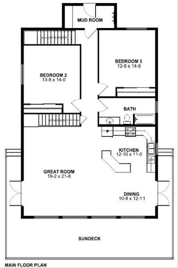 Cottage Floor Plan - Main Floor Plan #126-167