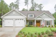 Country Style House Plan - 3 Beds 2 Baths 2136 Sq/Ft Plan #430-91 Exterior - Front Elevation