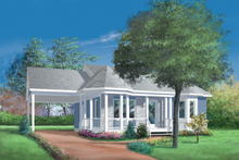 Dream House Plan - Cottage Exterior - Front Elevation Plan #25-1023
