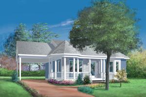 Dream House Plan - Cottage Exterior - Front Elevation Plan #25-1023