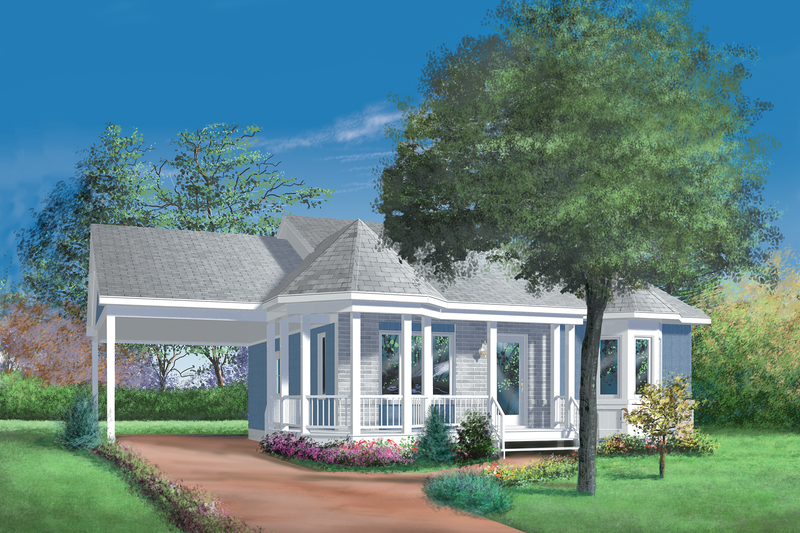 Cottage Exterior - Front Elevation Plan #25-1023