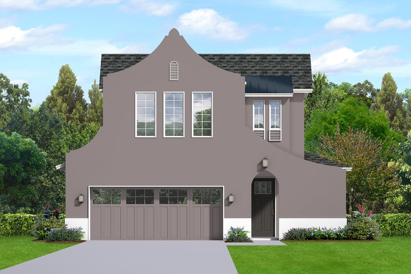 European Style House Plan - 3 Beds 2.5 Baths 1855 Sq/Ft Plan #1058-187 Exterior - Front Elevation