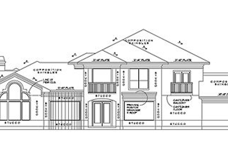 Traditional Exterior - Rear Elevation Plan #61-295 - Houseplans.com