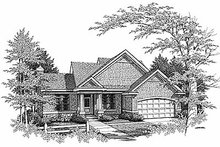 Traditional Exterior - Front Elevation Plan #70-228